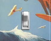 BIPLANES Vintage Poster Switch Plate (single)