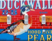 DUCKWALL Vintage Crate Label Light Switch Plate Cover (triple)