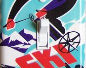 SKI COLORADO Vintage Ski Poster Switch Plate (single)