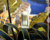 ITALIAN RIVIERA Vintage Poster Switch Plate (single)