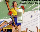 MAD RIVER GLEN Vintage Ski Poster Light Switch Plate (single)