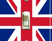 BRITISH Union Jack Flag Switch Plate (single)