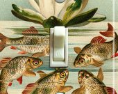 KOI and FROG Vintage Switch Plate (single)