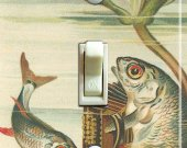 ACCORDION KOI Vintage Art Switch Plate (single)