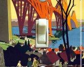 LONDON RAILROAD Vintage Travel Poster Switch Plate (single)