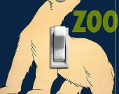 POLAR BEAR Vntage Zoo Poster Switch Plate (single)