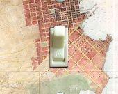 SF STREET MAP Switch Plate (single)
