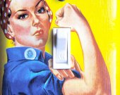 ROSIE the RIVETER Switch Plate (single)