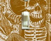 "Posada""s CALAVERA Vintage Art Switch Plate (single)"