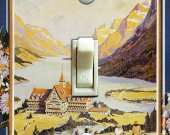 GLACIER National Park Vintage Poster Switch Plate (single)