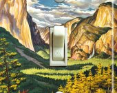 YOSEMITE Vintage Travel Poster Switch Plate (single)
