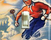 OSLO Vintage Ski Poster Switch Plate (single)
