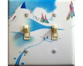CLUB ALPIN Vintage Ski Poster Switch Plate Tahoe or Truckee (double)
