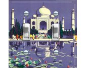 TAJ MAHAL Vintage Travel Poster Switch Plate (double)