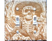 "Posada""s CALAVERA Vintage Art Switch Plate  (double)"