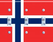 NORWEGIAN FLAG Switch Plate (triple)