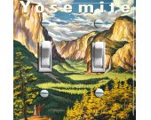 YOSEMITE Vintage Travel Poster Switch Plate (double)