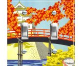 JAPANESE PAGODA Vintage Travel Poster Switch Plate (single or double)