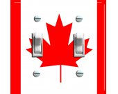 CANADA Flag Switch Plate (double)