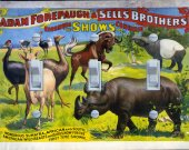 Vintage Circus Poster - Adam Forepaugh & Sell Bros. (triple)