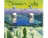 DONNER LAKE Vintage Poster Switch Plate (single or double)
