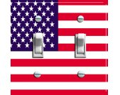 US FLAG Switch Plate (double)