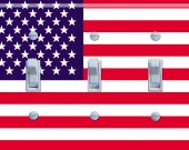 US FLAG Switch Plate (triple)