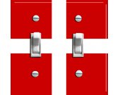 DENMARK Flag Double Switch Plate