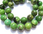 high quality  2strands 4-14mm Natural chrysoprase gems Round Ball  green chrysoprase beads jewelry beads