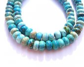 2strands 5x8 6x10 10x14mm  Sea Sediment Imperial Jasper stone Round wheel rondelle jewelry beads