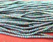 wholesale 5strands 3-8mm Hematite magnetic gem rondelle pinwheel  faceted blue  silver,gold,gunmetal,purple,brozne  rainbow loose bead