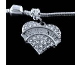Police wife charm fits all the big name bracelets crystal heart style charm