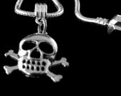 Pirate Necklace PirateJewelry Pirate Charm Skull necklace Skull Jewelry skull charm