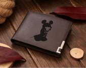 Kingdom Hearts Mickey Silhouette Leather Wallet