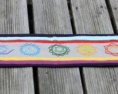 Small 7 Chakras Hand Embroidered Table Runner