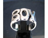 Sterling silver Word ring Boy one word - Letter ring