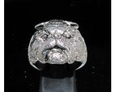 Sterling silver Men's Animal ring Bull-dog