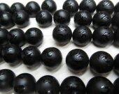 Wholesale 10 12 14 16mm full strand Tibetant Agate Gem Round Ball Carved Matte Gemstone Black jet Beads