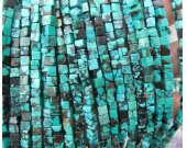 high quality 2strands 4 6 8mm Natural Turquoise stone,cube box black blue brown loose bead
