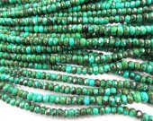 High quality 2strands 3x4 4x6 5x8mm Stabilzed Turquoise  Rondelle Abacus Faceted  Blue Green black jewelry Bead