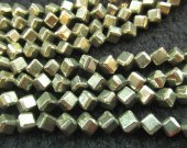 genuine Raw pyrite 2strands 4-10mm   Cube  iron golden grey  box square diameter gleaming pyrite beads