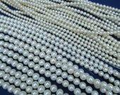 3-16mm  full strand Pearl Gergous Round ball   white dark black yellow red blue mixed jewelry beads