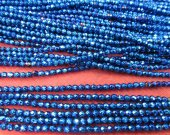 wholesale 5strands 2 3 4 6 8mm Hematite gem Titanium  plated ,round ball faceted blue  silver,gold,gunmetal,purple,brozne mixed loose bead
