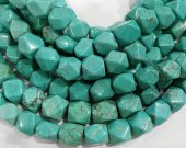 Turquoise stone 2strands 8-14mm  rondelle abacus nuggets faceted blue  spacer Bead