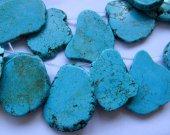 Top Drilled -- 18-60mm  full strand  turquoise gemstone Freeform  slab  blue green black jet  Pendant bead