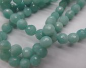 high quality  5strands 3 4 6 8 10 12 14 16mm genuine  Amazonite stone round ball faceted green jewelry beads