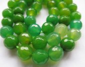 4 6 8 10 12 14 16mm full strand  fire agate gemstone  round ball faceted gree oranger mixed jewelry  beads