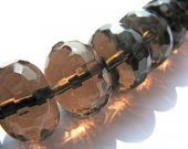 5x8 6x10 6x12 10x14mm full strand high quality  crystal smoky quartz beads rondelle abacus faceted jewelry beads