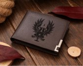 Dragon Age Grey Warden Heraldry Griffon Leather Wallet