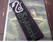 Slytherin Cross stitched Bookmark